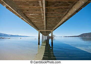 Under a Pier at Lake Tahoe
