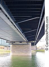 Under a steel bridge 1
