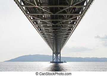 Under Akashi Kaikyo Bridge