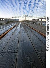 Under Astoria–Megler Bridge on Riverwalk