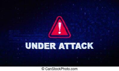 Under Attack Text Digital Noise Twitch Glitch Distortion...