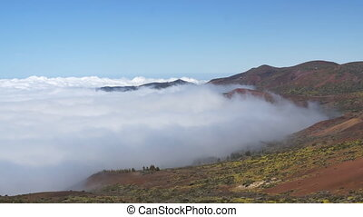 Under clouds in Tenerife - Landscape in Tenerife mountains