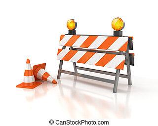under construction 3d illustration