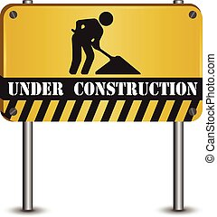Under construction abstract vector illustration