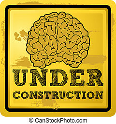 Under Construction - Abstract vector illustration of a human...