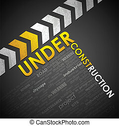 Under Construction Background - illustration of under...