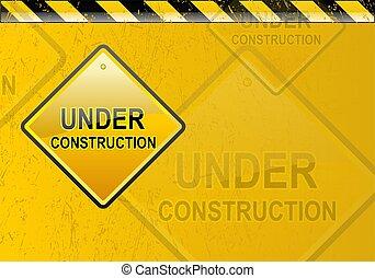 Under construction background - Grunge yellow under...