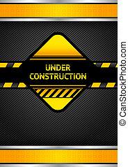 Under construction, black corduroy background