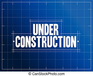 under construction blueprint illustration