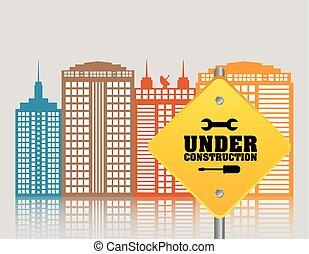 under construction building technology city