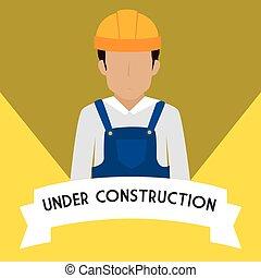 under construction design, vector illustration eps10 graphic...
