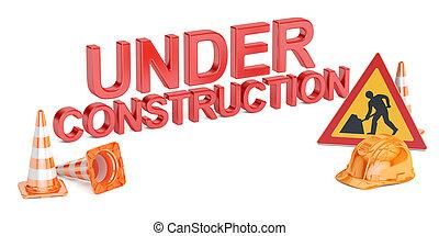 under construction concept, 3D rendering