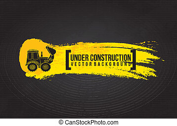 under construction design over black background vector...