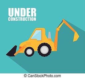 Under construction design. - Under construction machinery...