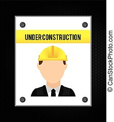 under construction design, vector illustration