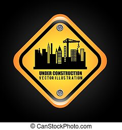under construction design, vector illustration