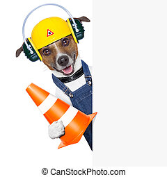 under construction dog - funny under construction dog with a...