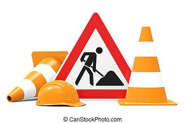 Under Construction, equipment for building worker - Under...