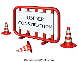 under construction fence