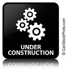 Under construction (gears icon) black square button