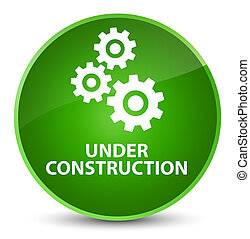 Under construction (gears icon) elegant green round button