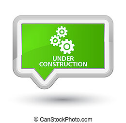 Under construction (gears icon) prime soft green banner button