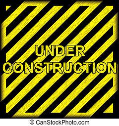 Under construction grunge background