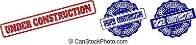 UNDER CONSTRUCTION Grunge Stamp Seals