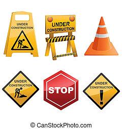 Under Construction Icon Set - illustration of set of icon...