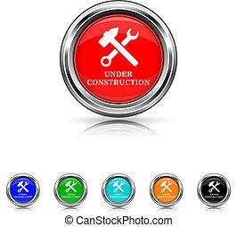 Under construction icon - six colours set