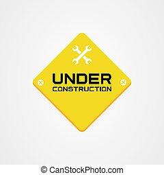Under construction icon vector template