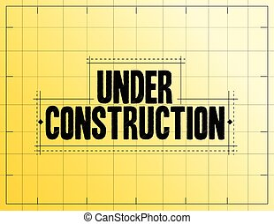 under construction measurements illustration design over a...