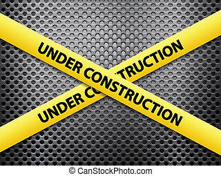 under construction metal background