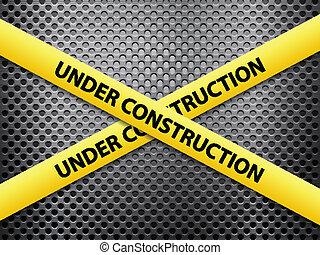 under construction metal background