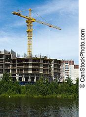 Under construction modern house