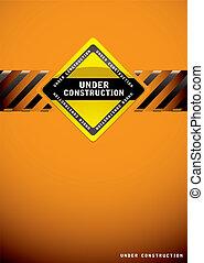 Under construction orange