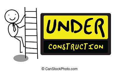 Under Construction people illustrat