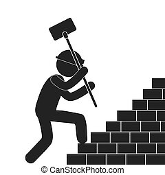 under construction related pictogram image