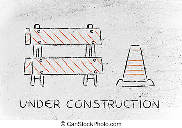 under construction road sign - road sign with Under...