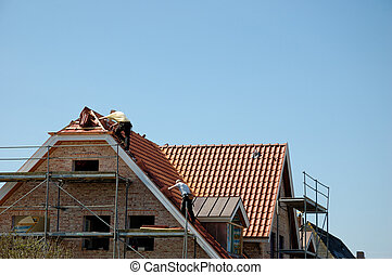 Under construction - Roofers at work