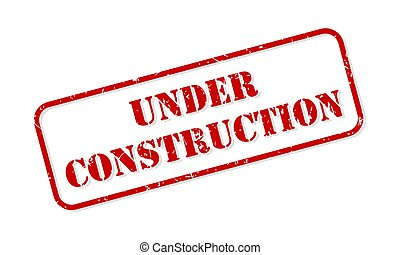 Under Construction Rubber Stamp Vector