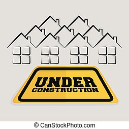 under construction sign house residential
