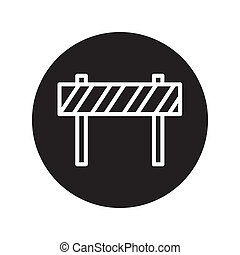 Under Construction Sign icon vector