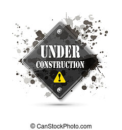 under construction sign on white eps10