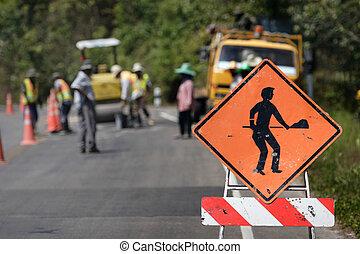 Under construction sign symbol