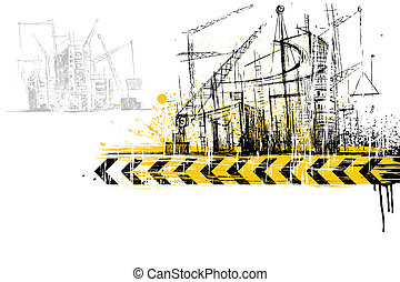Under Construction Site - illustration of under construction...