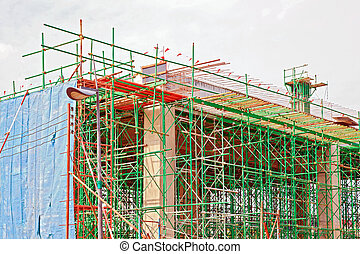 under construction site