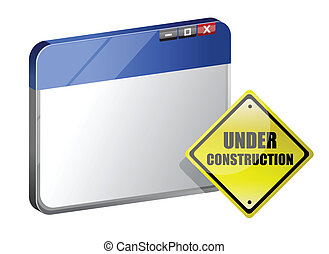 Under construction site template