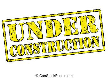 Under Construction grunge rubber stamp over a white background, vector illustration