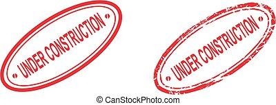 under construction sticker stamp set